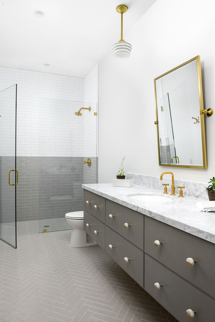 Grey And White Bathroom Ideas Modern Hard To Ignore This Stunning Bathroom With It Gray And White Bathroom White Bathroom Ideas Modern Grey And White Bathroom