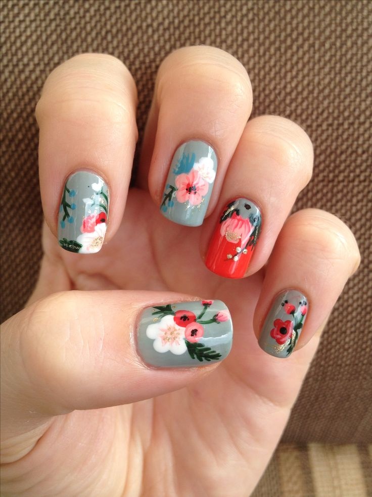 Floral Manicures For Spring And: Best 10+ Floral Nail Art Ideas On Pinterest
