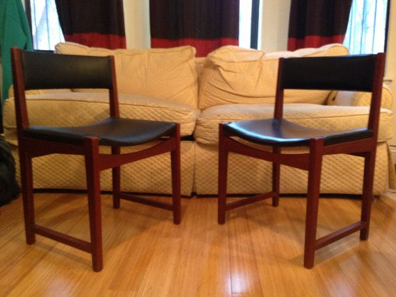 Vintage Mid Century Modern Accent Chairs   Free NYC Delivery! $250 (etsy)