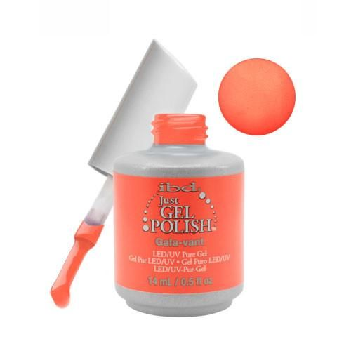 IBD Just Gel Soak Off Gel Nail Polish Light Orange Gala-Vant