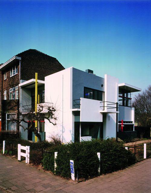 Gerrit Rietveld, Maison Rietveld Schröder, Utrecht, 1924, vue extérieure datant de 1993, Utrecht, collection Centraal Museum, Archives Rietveld Schröderarchief, photo : Manuel Kubitza, © Adagp, Paris 2010.