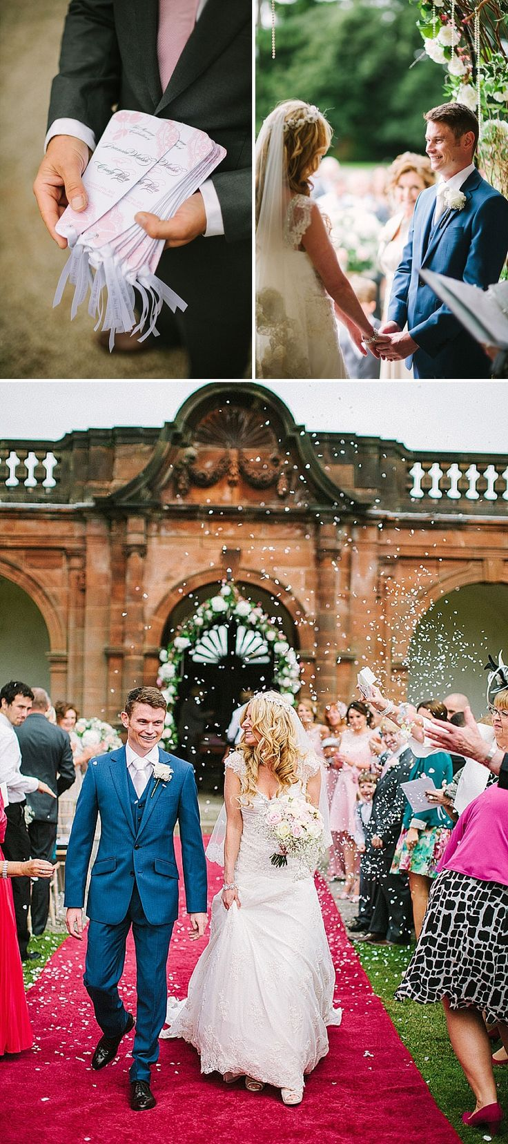 Elegant Wedding At Thornton Manor With Bride In A Bespoke Lace Gown And Jimmy Choo Heels With A Vintage Lace Veil And Bridesmaids In Baby Pink With Groom In Electric Blue Suit From Reiss 7
