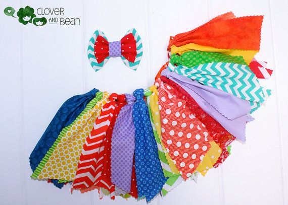 Rainbow Tutu Circus Tutu Circus Birthday by Cloverandbeantutus.com