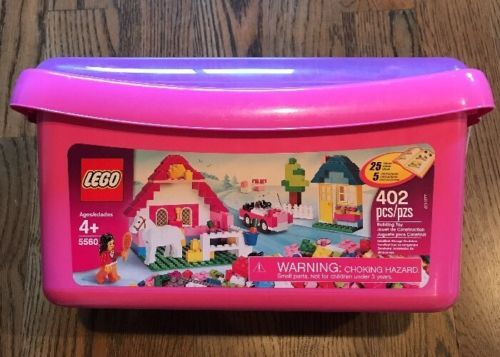 LEGO 5560 LARGE PINK BOX (402 PCS) WITH IDEAS BOOK