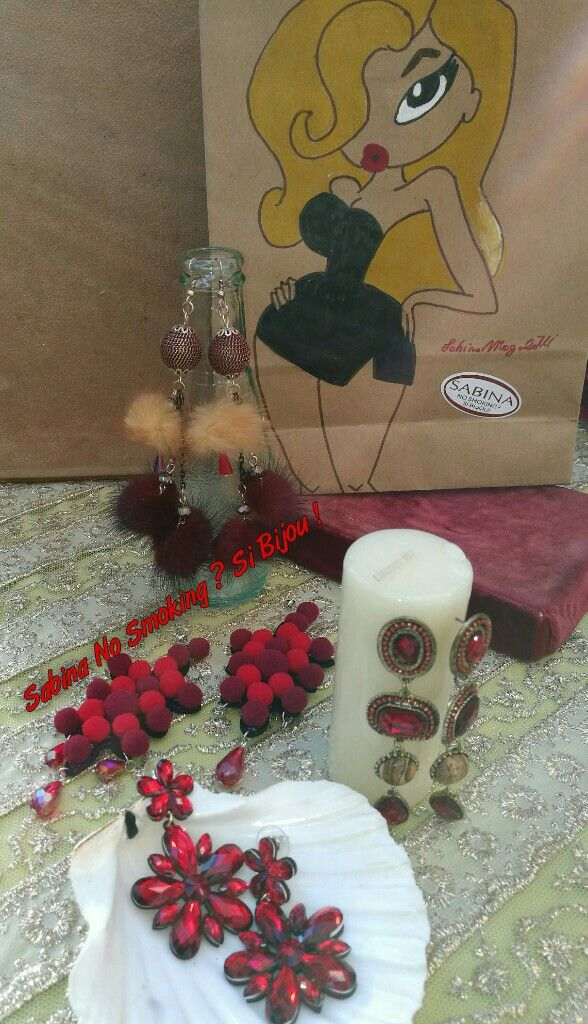 Orecchini rossi boho stile Vetrina #sabinanosmokingsibijou
