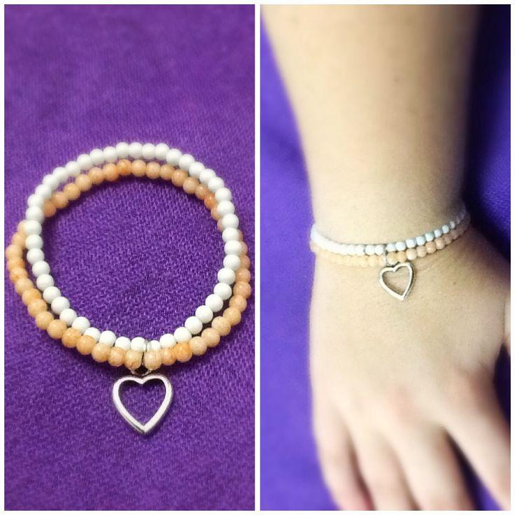 Basic heart bracelet.  Www.releasingthebutterflywithin.weebly.com or facebook: Unique a Handmade Jewellery by RTBW