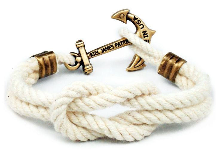 "Kiel James Patrick's ""Triton Knot"" sailing bracelets are carefully hand-knotted in Rhode Island from our own locally twisted nautical cord in various weathered New England colors. The Square Knot Cons"