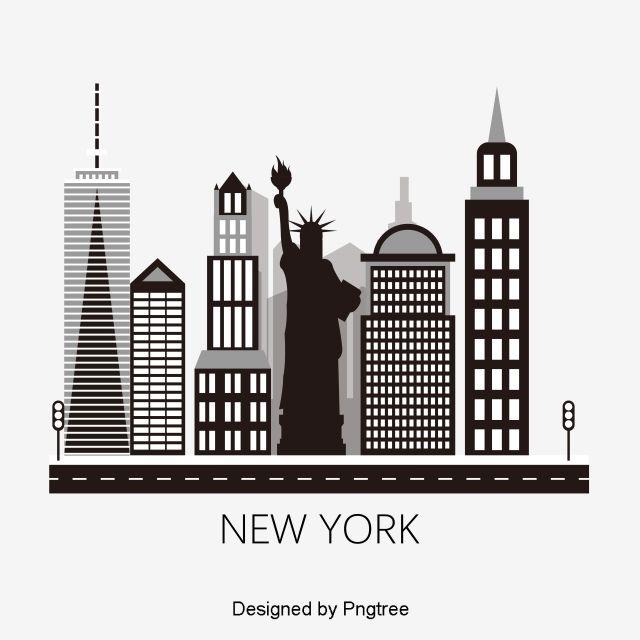 New York City Skyine Imagenes Predisenadas De La Ciudad Skyine De La Ciudad Complejo Arquitectonico Png Y Vector Para Descargar Gratis Pngtree Background New York City City Art
