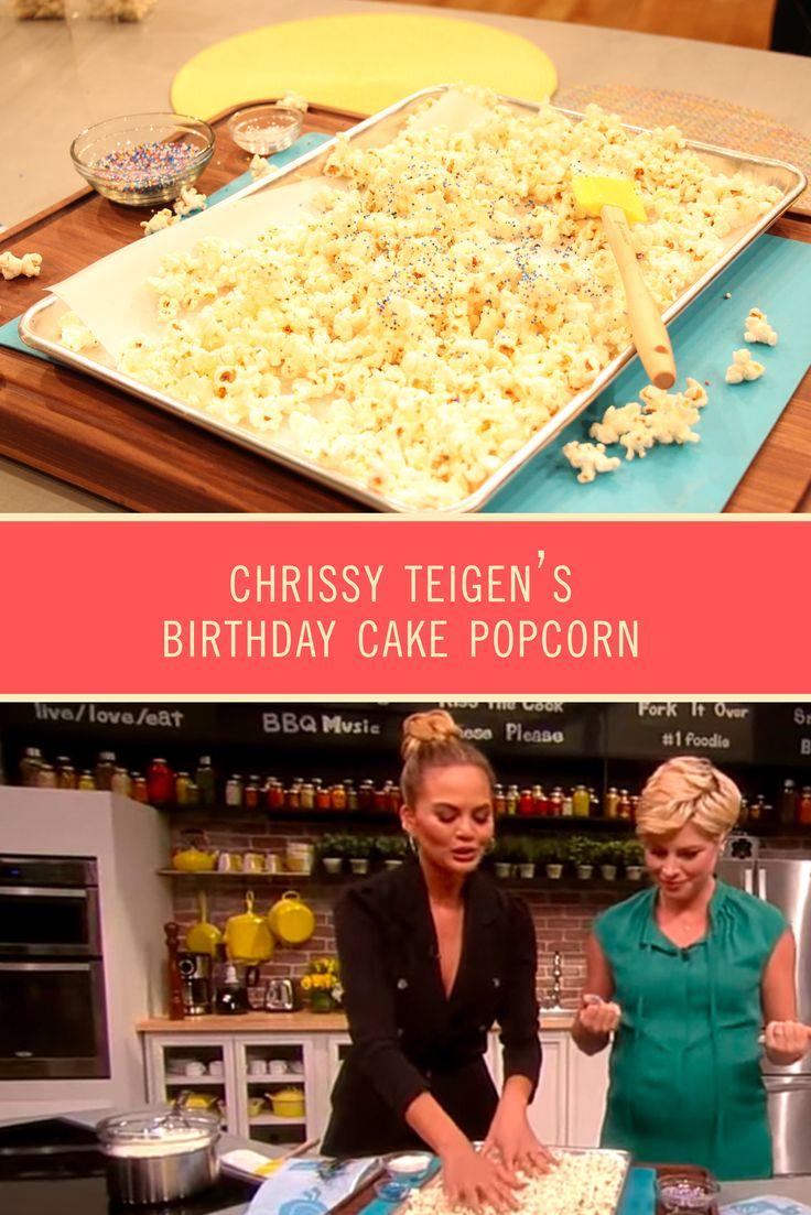 Chrissy Teigen Birthday Cake Popcorn Recipe