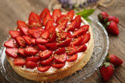 Tarte aux fraises, mascarpone et pistaches