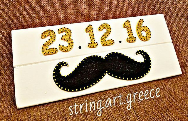 Διασταση:45χ19 #stringart #wood #handmade #handcraft #craft #art #artist #new #born #baby #boy #gift #mustache #instaart #etsy #greece