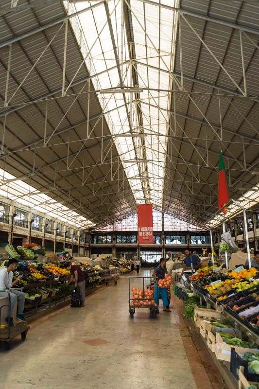 Fruit and vegetables at Mercado da Ribeira/Ribeira Market