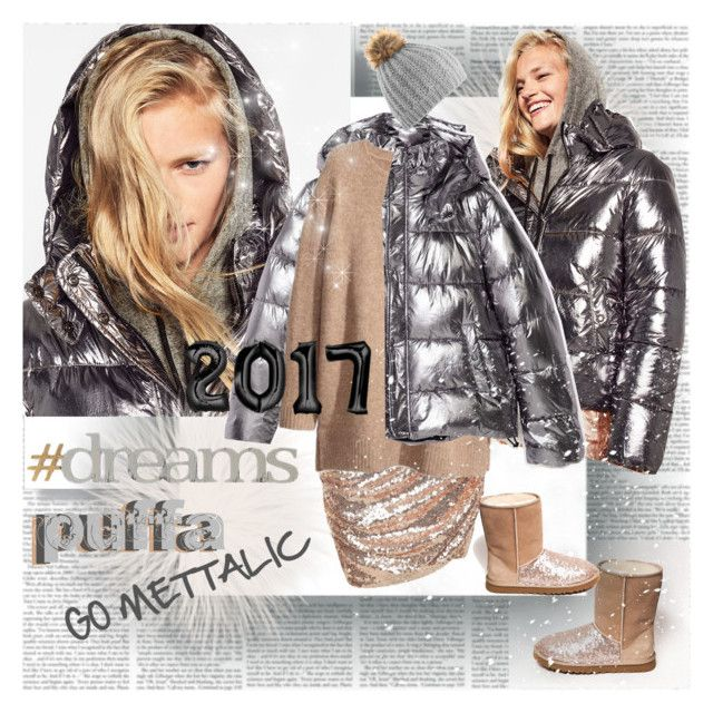 Puffa 2017 Go Mettalic by stylepersonal on Polyvore featuring Federation, H&M, Letter2Word and puffers
