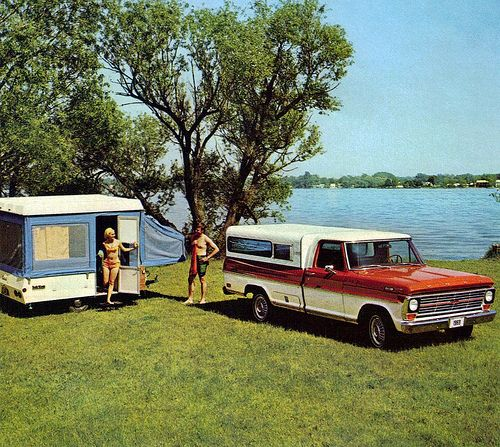 1969 Ford F-100 Pickup Truck with Camper Shell and Pop-up … | Flickr