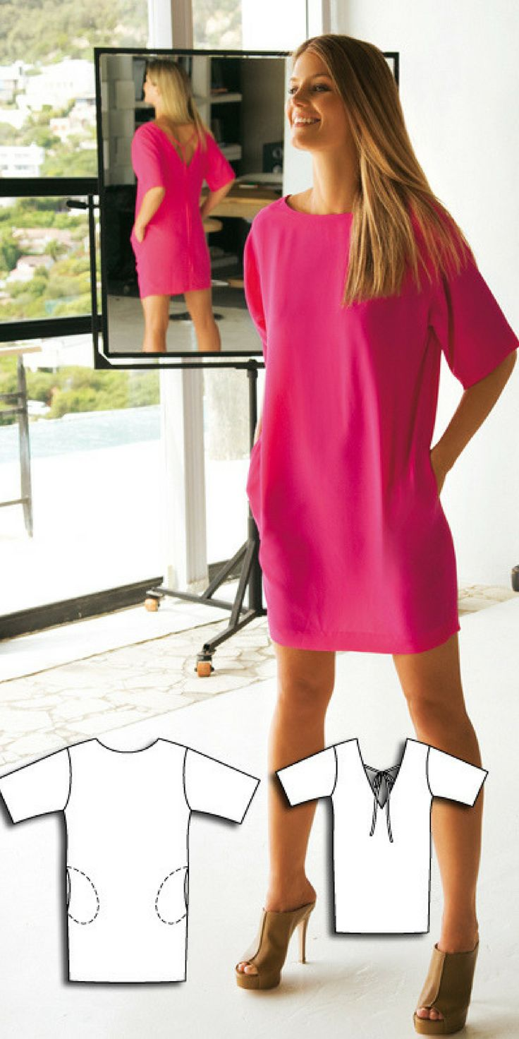 Women's dress sewing pattern available for download. Available in various sizes and is produced by BurdaStyle Magazine.This dress is one of our best selling patterns! It's a simply cut summer dress with a large cut back, ribbon closure and side pockets.affilink