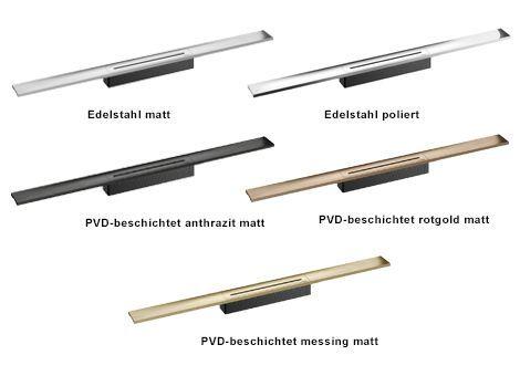 Materialvarianten Duschrinne CeraFloor Select