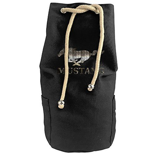 Willcallyou Unisex Vertical Bucket Cylindrical Shaped Canvas Basketball Shoulders Backpack Bags---Ford Mustang