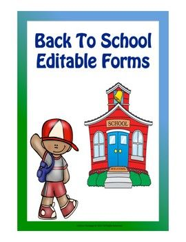 These Back To School Editable forms are useful on the first day of school and on back to school open house night. It includes: *Welcome Sign *Name tags *Transportation Form *Birthday Form *Email Sign- up sheet *Text Sign-up sheet *Volunteer Sign- up sheet *Supplies list *Signs that you can post on tables to guide parents during back to school open house *Thank you note to parents for