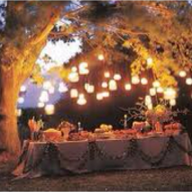 Already bought the ball jars.. Gorgeous way of lighting up the buffet table!