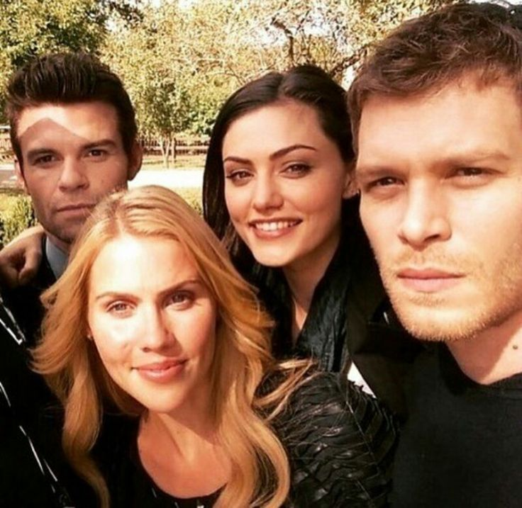 My favorite people! Daniel gillies, Joseph morgan, Claire holt and phoebe tonkin