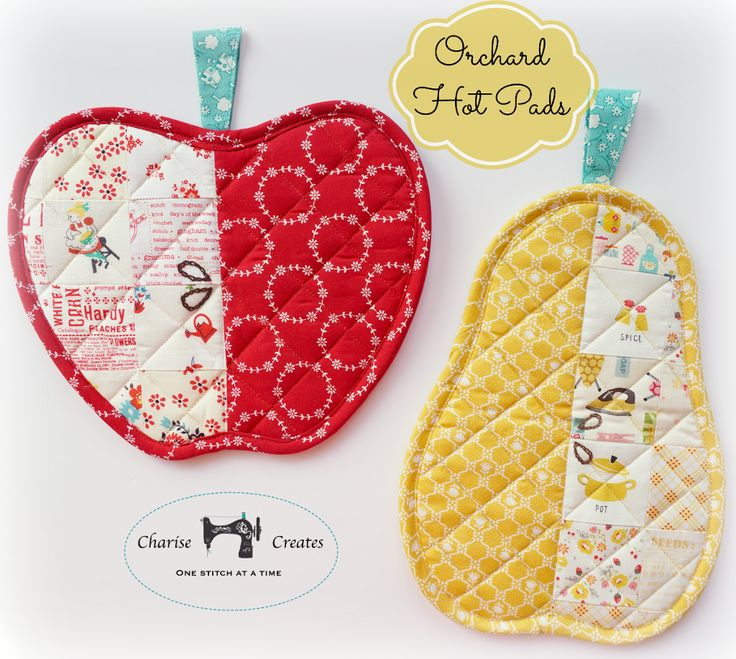 Looking for your next project? You're going to love Orchard Hot Pads ~ Apple and Pear by designer Charise Creates.