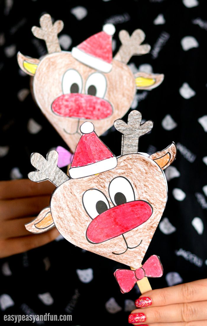 Paper Reindeer Craft With Printable Template Kids Craft Stars