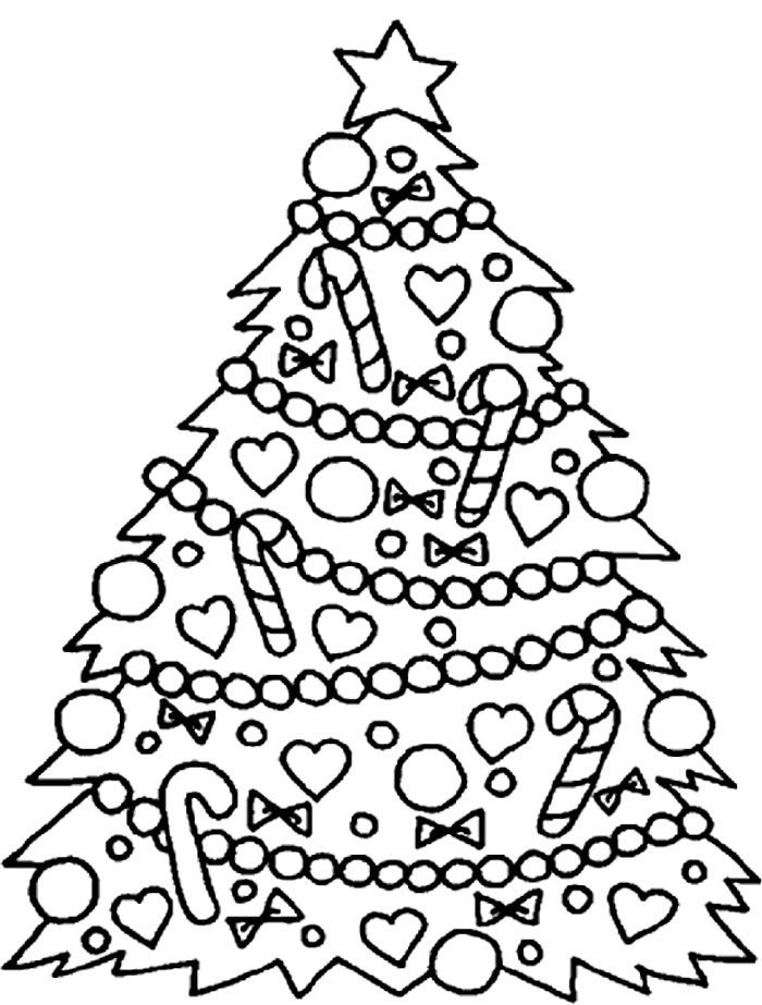 Coloring Pages Christmas Tree Happy New Year Wishes 2020 ...