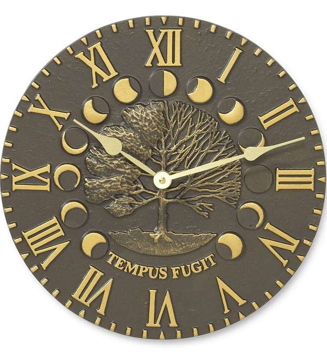 Our Times and Seasons Outdoor Clock makes a rustic outdoor accent.