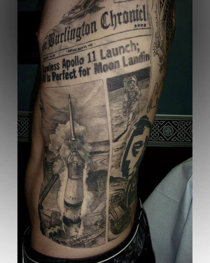 Front page newspaper tattoo