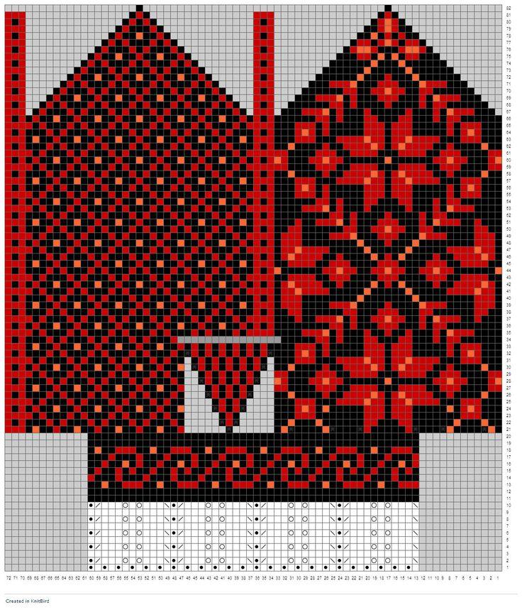 Maskedilla: bunadstilbehør strikke votter bunadsvanter gratis mønster
