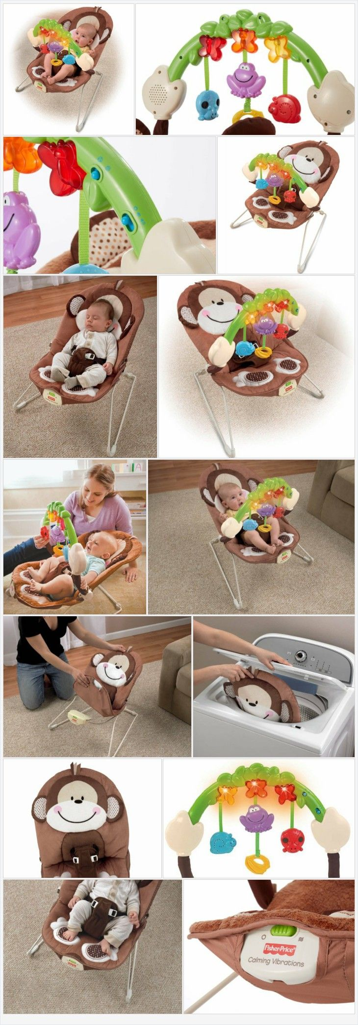Uncategorized fisher price comfort curve bouncer new free shipping ebay - Fisher Price Deluxe Monkey Bouncer Every Thing Baby