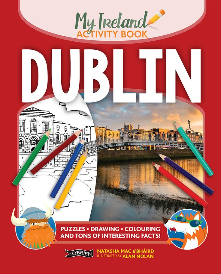 A bright and fun-filled activity book set in Dublin. Puzzles, games, colouring, stories and tons of interesting facts.