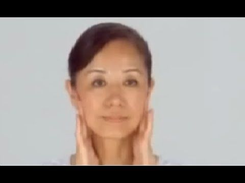 Facial massage to help lymph try