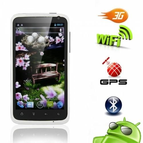 4.7 Dual SIM Touch    Screen Cell Phone    This phone comes with a Dual SIM, touch screen, GSM Quad Band, 512 MB Memory, 4.0 inch TFT screen, Android 2.3 OS, 1GHz CPU and WiFi.