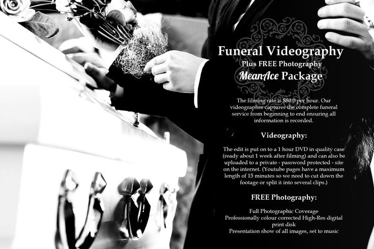 MeanAce Design & Branding ® Funeral Videography Package - We understand it could happen anytime anywhere.