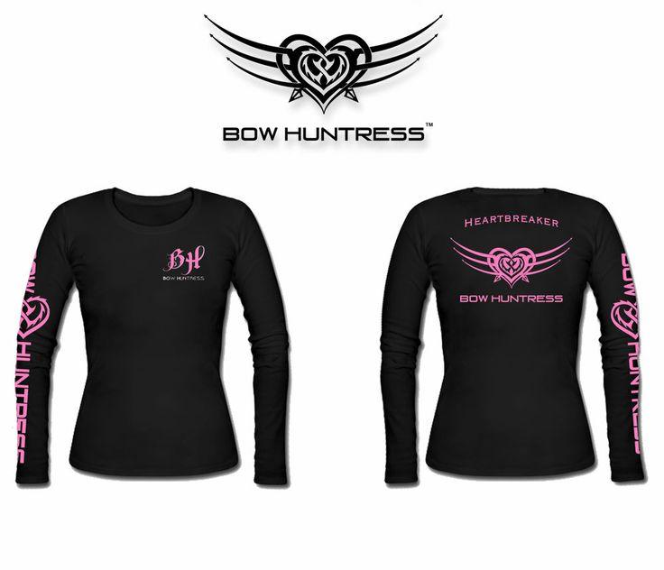 Bow Huntress Brand Womens Long Sleeve Hunting t shirt,bow hunting  apparel #BowHuntress #TShirt