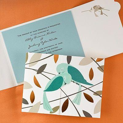 Love Birds - Invitation - Bird Wedding Invitations