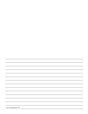 This lined paper gives you half a page for writing and half a page for a picture or drawing. We have similar paper with blue lines, too. Free to download and print