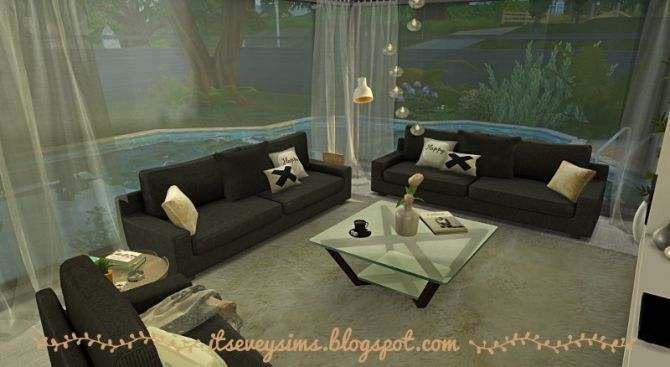 Modern living room at evey sims sims 4 updates sims 4 for Modern living room sims 4