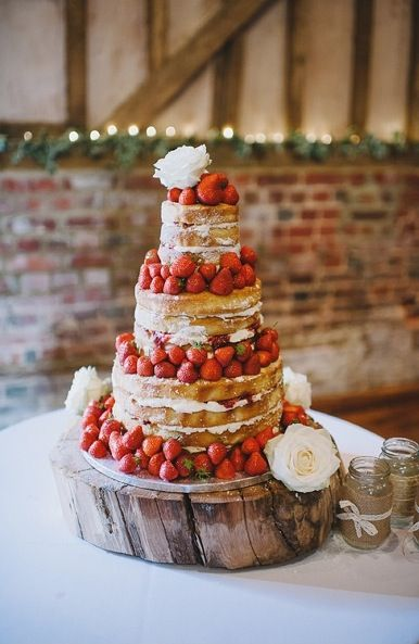 The wedding cake- but on a simple white base or cake stand
