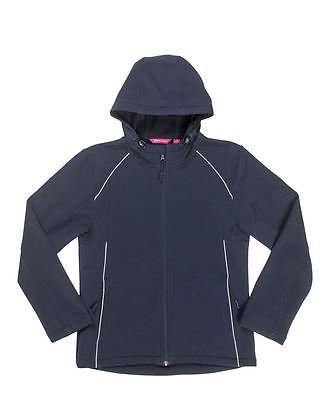 3HSJ1 JB's Ladies Hooded Soft Shell Jacket - NAVY - Sz 6 - 24 Waterproof coat