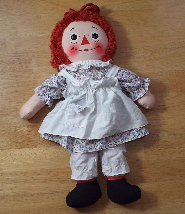 vintage knickerbocker raggedy ann doll music box w tags johnny gruelle 1963 16 u0026quot