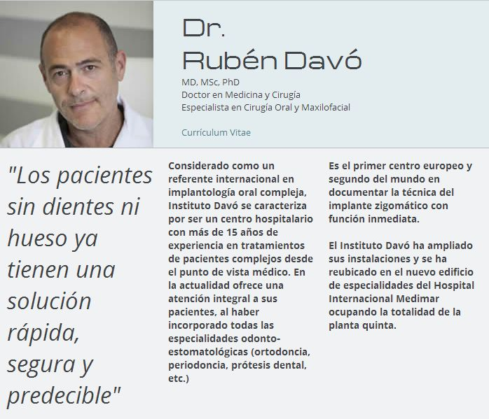 Dr. Rubén Davó Rodríguez. Hospital Internacional Medimar.