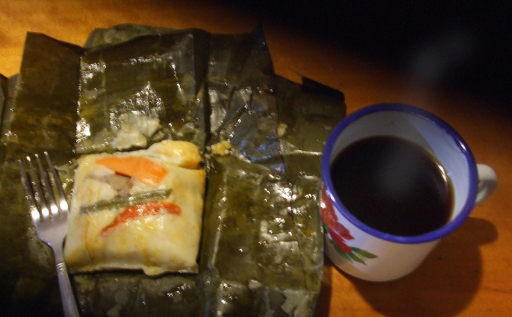 café.. con tamal | Costa Rican food | Pinterest