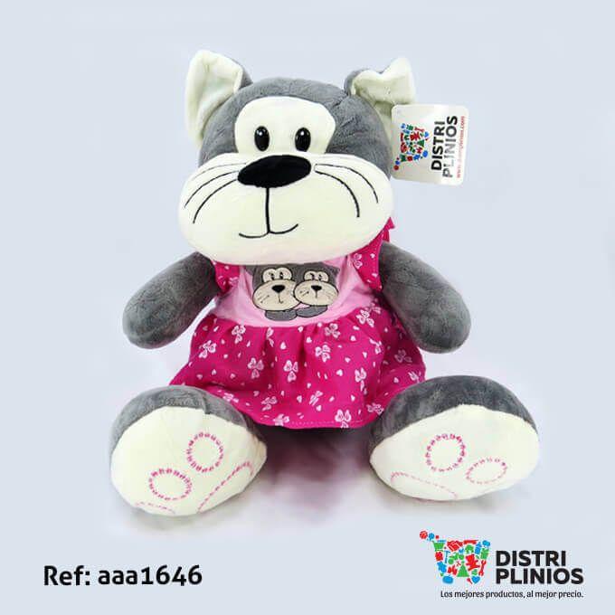 Hermosa ratona De Peluche Mediano Con vestido de falda de color rosado con rostro de 2 ratones, con sonido, ideal para regalar en esta temporada. Medidas Alto 35 cms Largo: 24 cms Ancho 30 cms. Los precios de nuestro sitio web son al por mayor, el costo de los productos se incrementa en compras por unidad, cualquier inquietud comuníquese al 320 3083208 o al 3423674 o visítenos en la Calle 12 B # 8a – 03 Centro, Bogotá, Colombia.