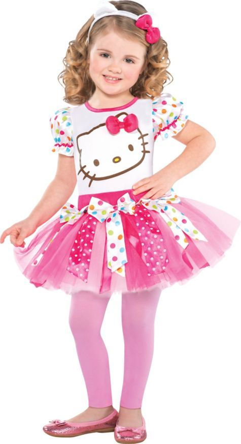 Girls Pink Hello Kitty Costume - Party City