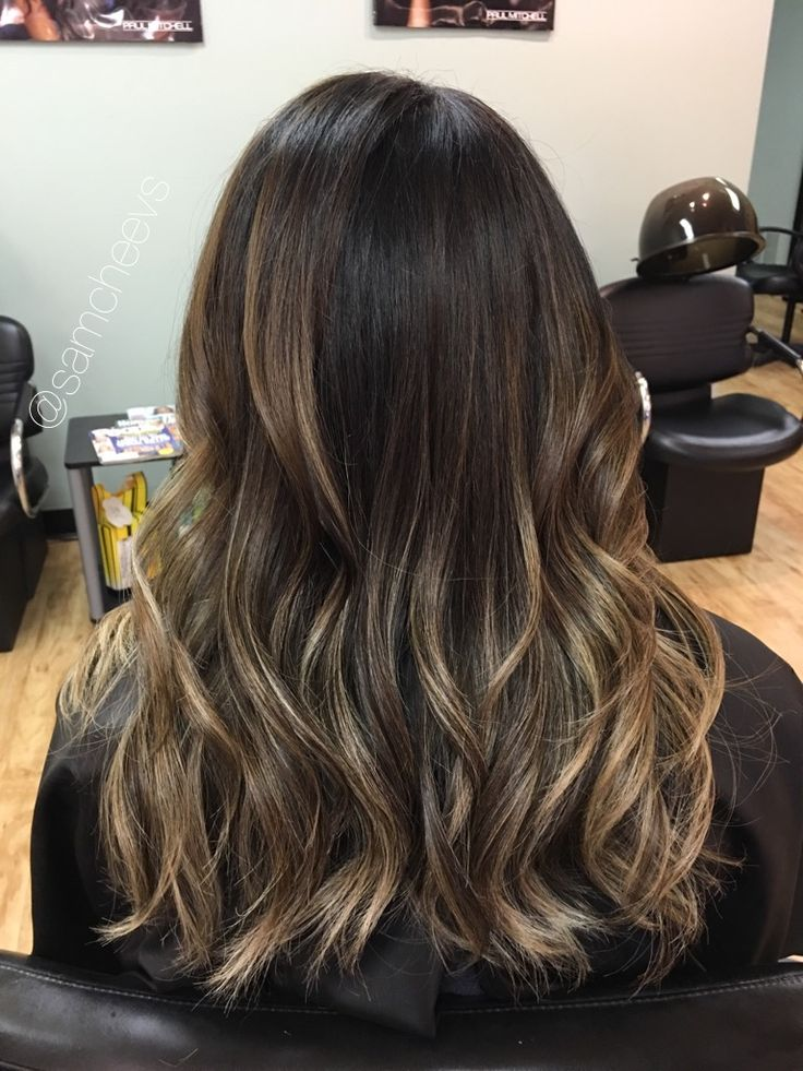 Chocolate Brown Hair With Honey And Ash Lowlights Brown