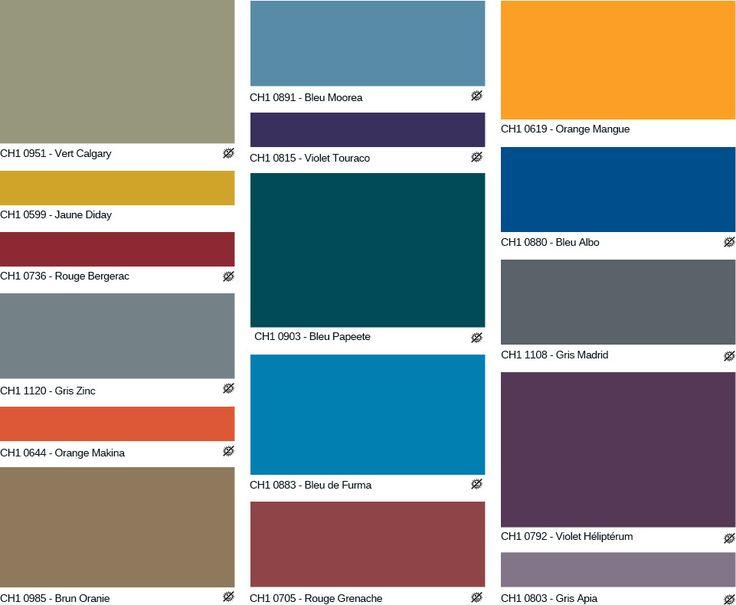Nuancier peinture des professionnels chromatic - Nuancier de bleu peinture ...