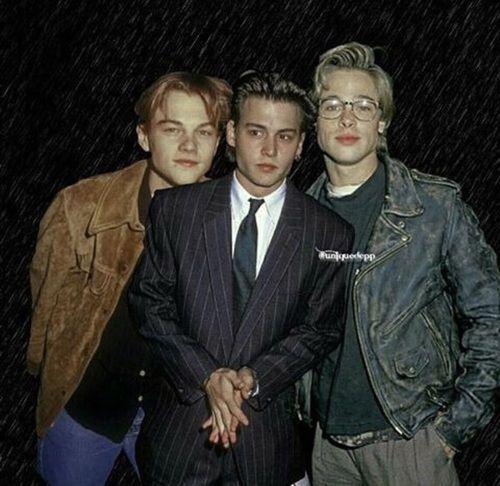 Imagem de boys, brad pitt, and johnny depp