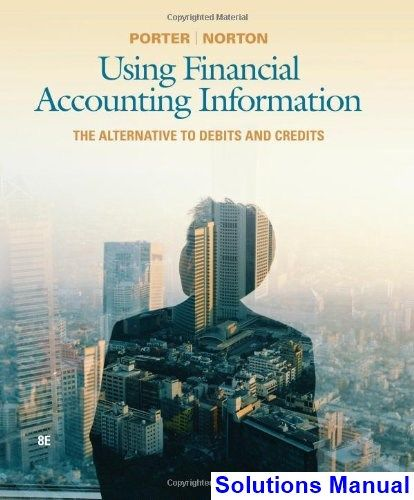 Using Financial Accounting Information The Alternative to Debits and Credits 8th Edition Porter Solutions Manual - Test bank, Solutions manual, exam bank, quiz bank, answer key for textbook download instantly!